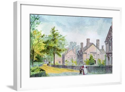 Workers' Cottages at Bournville, Birmingham, 1892--Framed Art Print