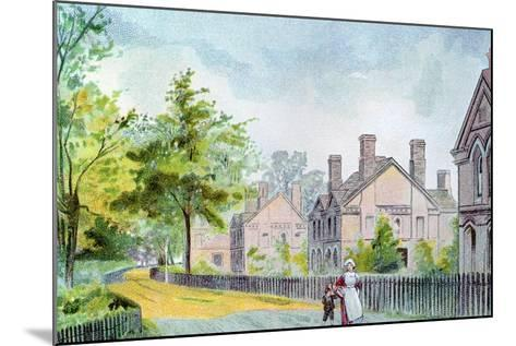Workers' Cottages at Bournville, Birmingham, 1892--Mounted Giclee Print