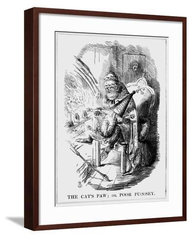 The Cat's Paw: or Poor PuSey, 1850--Framed Art Print