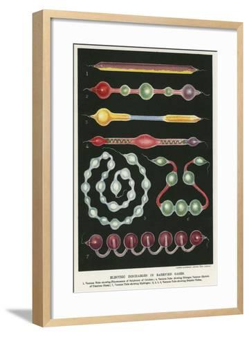 Electric Discharges in Rarefied Gases, 1892--Framed Art Print