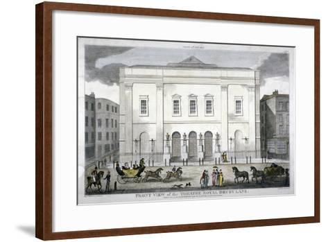 Front View of the Theatre Royal, Drury Lane, Westminster, London, 1812--Framed Art Print