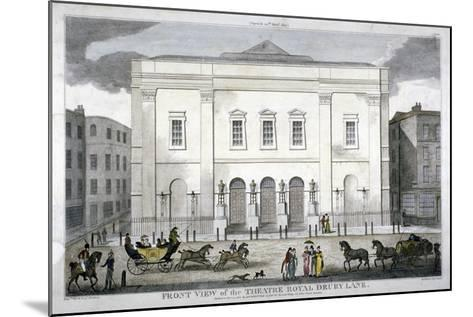 Front View of the Theatre Royal, Drury Lane, Westminster, London, 1812--Mounted Giclee Print