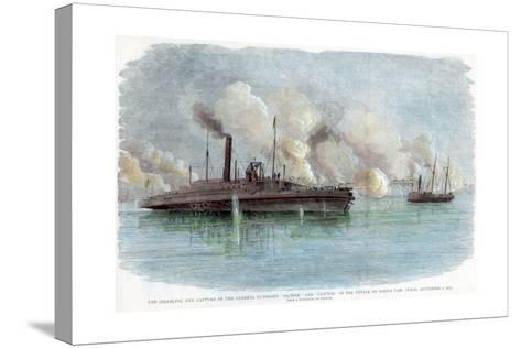 The Attack on Sabine Pass, Texas, American Civil War, 8 September 1863--Stretched Canvas Print