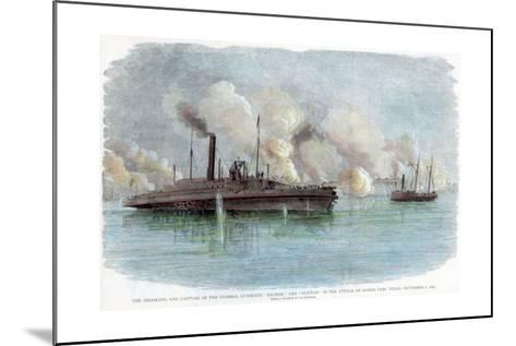 The Attack on Sabine Pass, Texas, American Civil War, 8 September 1863--Mounted Giclee Print
