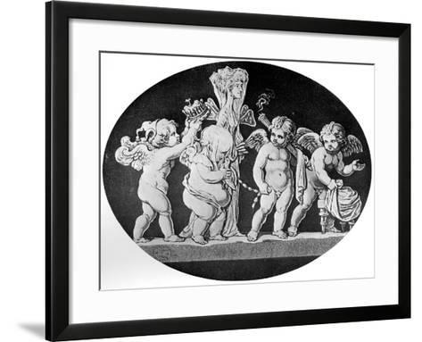 The Marriage of Cupid and Psyche, 1797--Framed Art Print