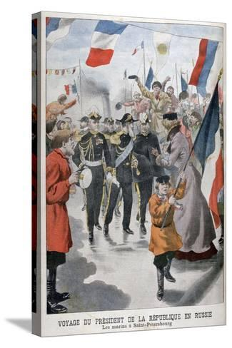 The President of the Republic of France Visiting St Petersburg, Russia, 1902--Stretched Canvas Print