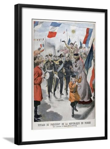 The President of the Republic of France Visiting St Petersburg, Russia, 1902--Framed Art Print