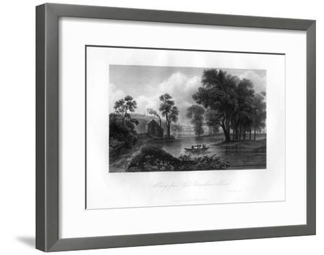 Albany from Van-Unsselaens Island, New York State, 1855--Framed Art Print