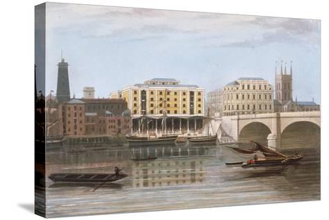 Fenning's Wharf, Bermondsey, London, C1835--Stretched Canvas Print