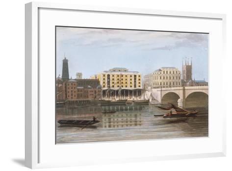 Fenning's Wharf, Bermondsey, London, C1835--Framed Art Print