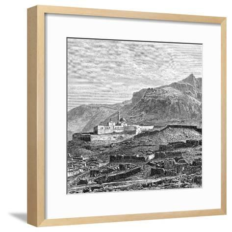 The Mosque and the Ruined Quarter of Bayazid (Dogubayazi), Turkey, 1895--Framed Art Print