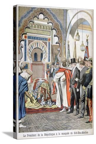 President Loubet Visiting the Mosque of Sidi Bou Medine, Tlemcen, Algeria, 1903--Stretched Canvas Print