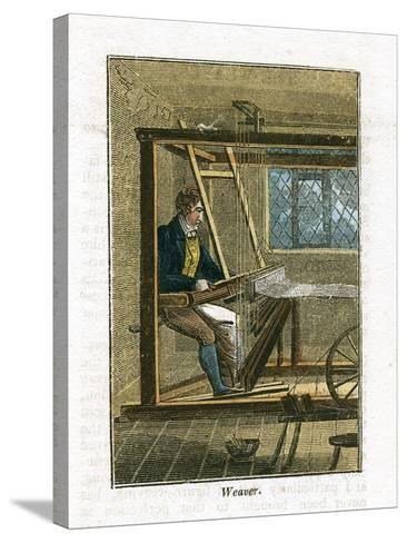 Weaver at His Loom, 1823--Stretched Canvas Print