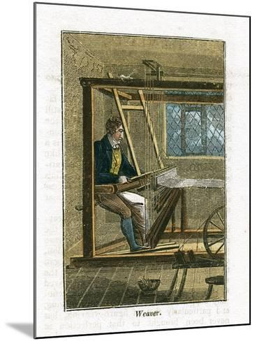 Weaver at His Loom, 1823--Mounted Giclee Print
