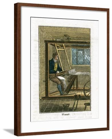 Weaver at His Loom, 1823--Framed Art Print