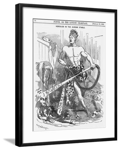 Hercules in the Augean Stable, 1888-Edward Linley Sambourne-Framed Art Print