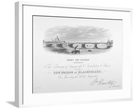 View of Blackfriars Bridge and St Paul's Cathedral, London, 1865--Framed Art Print