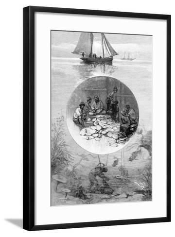 Pearl Fishery, Torres Strait, Australia, 1886--Framed Art Print