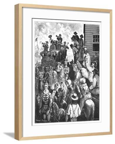 The Travelling Circus, C1870S- Tavernier and Frenzeny-Framed Art Print
