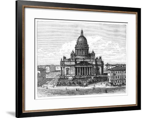 Cathedral of St Isaac, St Petersburg, Russia, 1900--Framed Art Print
