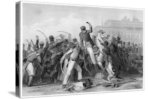 Death of Colonel Finnis at Meerut, 1857--Stretched Canvas Print