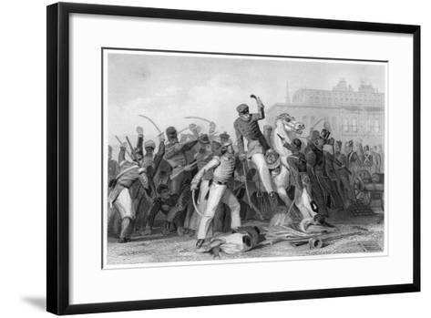 Death of Colonel Finnis at Meerut, 1857--Framed Art Print