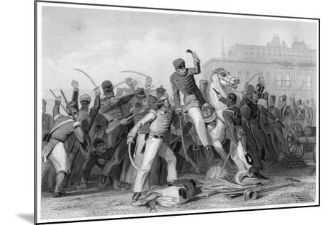 Death of Colonel Finnis at Meerut, 1857--Mounted Giclee Print