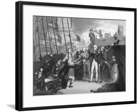 Surrender of the Spanish Ship 'San Josef' after the Battle of Cape St Vincent, 1797-Daniel Orme-Framed Art Print
