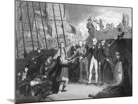 Surrender of the Spanish Ship 'San Josef' after the Battle of Cape St Vincent, 1797-Daniel Orme-Mounted Giclee Print