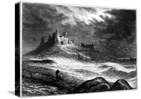 Dunstanburgh Castle, C1850--Stretched Canvas Print