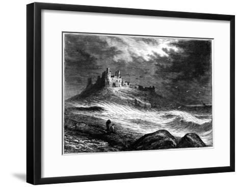 Dunstanburgh Castle, C1850--Framed Art Print