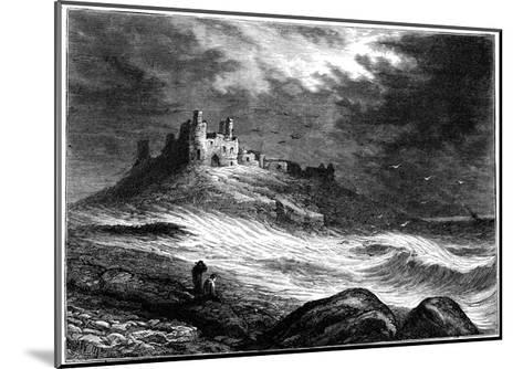 Dunstanburgh Castle, C1850--Mounted Giclee Print
