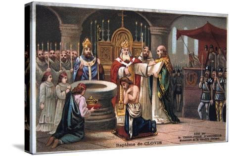Baptism of Clovis, 496 Ad--Stretched Canvas Print