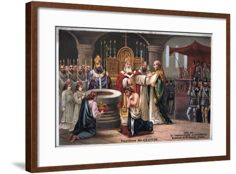 Baptism of Clovis, 496 Ad--Framed Art Print