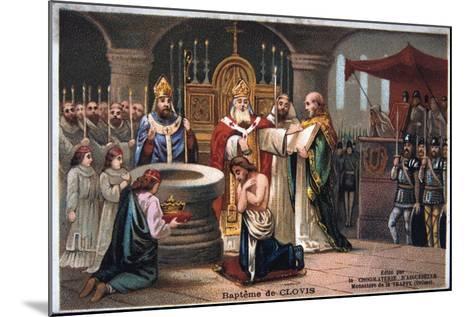 Baptism of Clovis, 496 Ad--Mounted Giclee Print