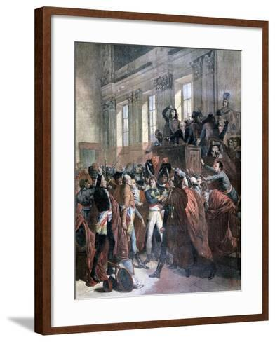 Bonaparte and the Council of Five Hundred at St Cloud, 10th November 1799-François Bouchot-Framed Art Print