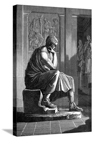 Aristotle (384-322 B), Ancient Greek Philosopher and Scientist--Stretched Canvas Print