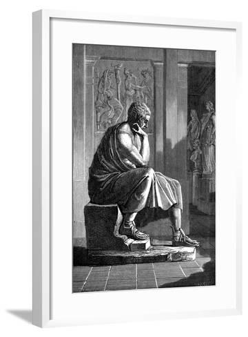 Aristotle (384-322 B), Ancient Greek Philosopher and Scientist--Framed Art Print