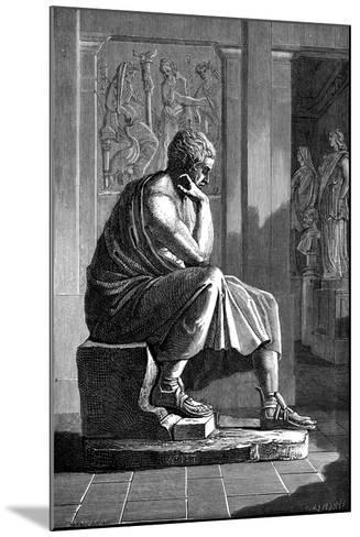 Aristotle (384-322 B), Ancient Greek Philosopher and Scientist--Mounted Giclee Print