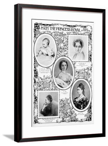 Princess Victoria Adelaide Mary Louise, Eldest Daughter of Queen Victoria, Late 19th Century--Framed Art Print