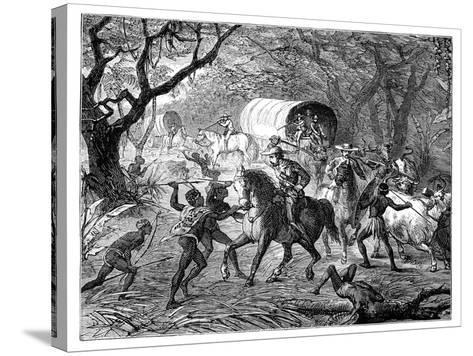 The Caffre War: Natives Attacking a Convoy, 19th Century--Stretched Canvas Print