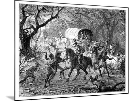 The Caffre War: Natives Attacking a Convoy, 19th Century--Mounted Giclee Print