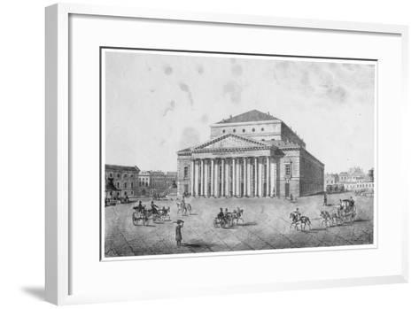 The Imperial Bolshoi Kamenny Theatre, St Petersburg, Russia, 1820S--Framed Art Print