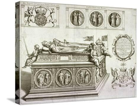 The Tomb of Henry VII and Queen Elizabeth in the King's Chapel in Westminster Abbey, London, C1750--Stretched Canvas Print