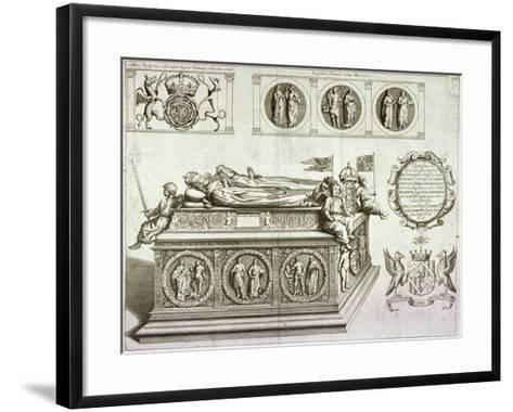 The Tomb of Henry VII and Queen Elizabeth in the King's Chapel in Westminster Abbey, London, C1750--Framed Art Print