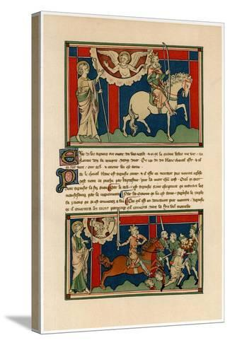 Two of the Horsemen of the Apocalypse, Early 14th Century--Stretched Canvas Print