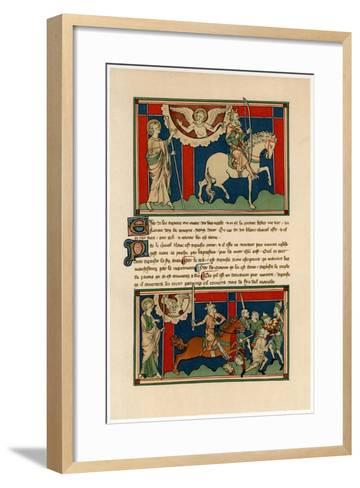 Two of the Horsemen of the Apocalypse, Early 14th Century--Framed Art Print