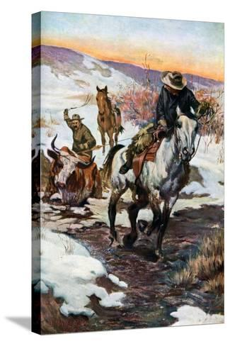 Winter Work for the Cowboys, 1906 (1908-190)--Stretched Canvas Print