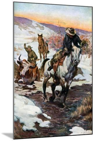 Winter Work for the Cowboys, 1906 (1908-190)--Mounted Giclee Print