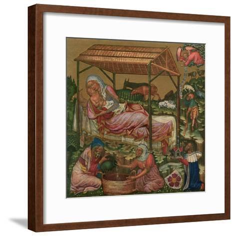 Birth of Christ, C1350--Framed Art Print